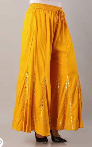 Mirror work Sharara Pants  (colors available)