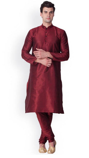 Mens Silk Kurta Pajama Set