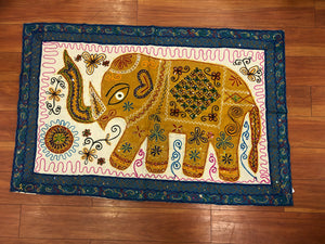 Tapestry, Elephant wall decor , Embroidered Panels