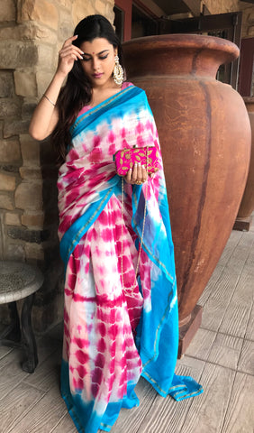Cotton Shibori Print Saree