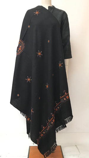 Gujarati Embroidered Shawl