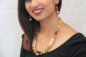 Indian Traditional Style Chandani Pearl Necklace - Sarang