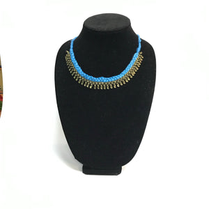 Thread and Oxidized Tribal Necklace