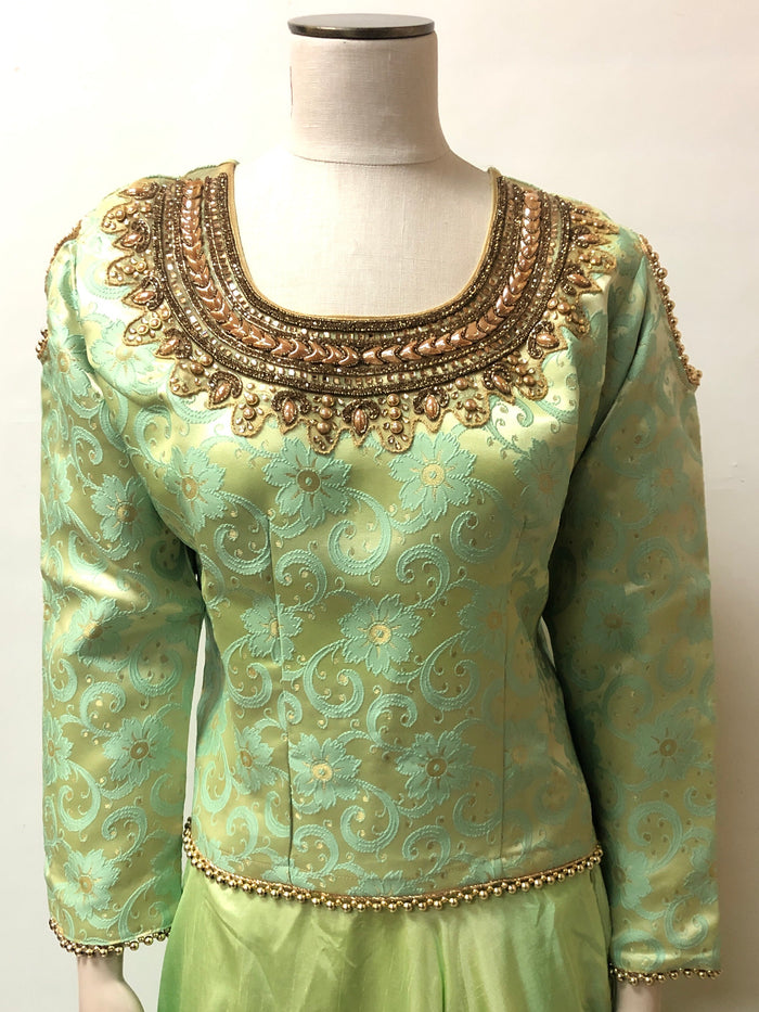 Brocade Silk embroidered Top