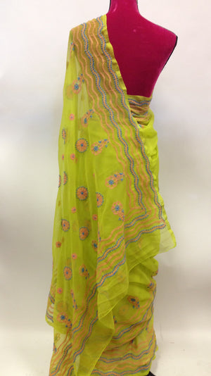 Georgette lucknowi Saree - 3
