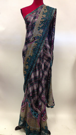 Printed Georgette Saree - 1