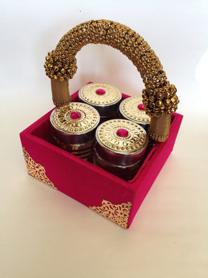 Decorative Tray With Four Jars - 3