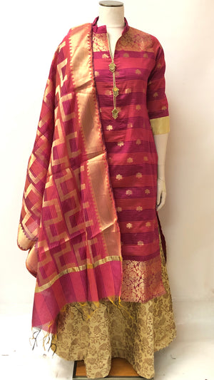 Formal Banarasi Kurta and Dupatta Set ( Colors Available)
