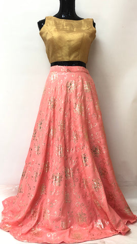 Party Wear Flared Skirt