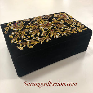 ZARDOZI work velvet Jewelry Box