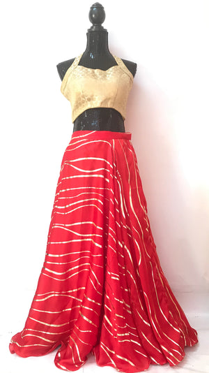 LONG FLARED SILK SKIRT (Colors Available)