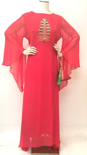 Georgette Long Maxi Dress.