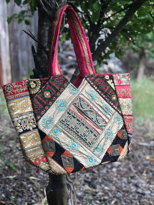 Tribal Banjara Bag Vintage Handmade Boho Bags Ladies Bag Embroidery Shoulder Bag B