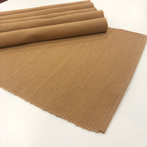 Ribbed Cotton Table Mats Set
