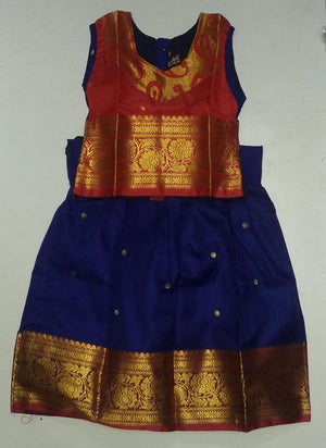 Girls Pattu Pavadai (Colors Availaible)
