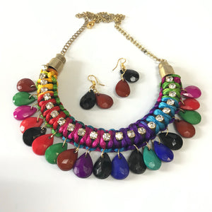 Silk thread and Bead Necklace