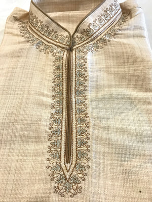 Short Silk Kurta