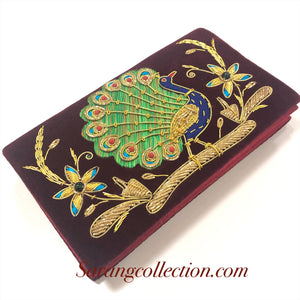 ZARDOZI work velvet Clutch