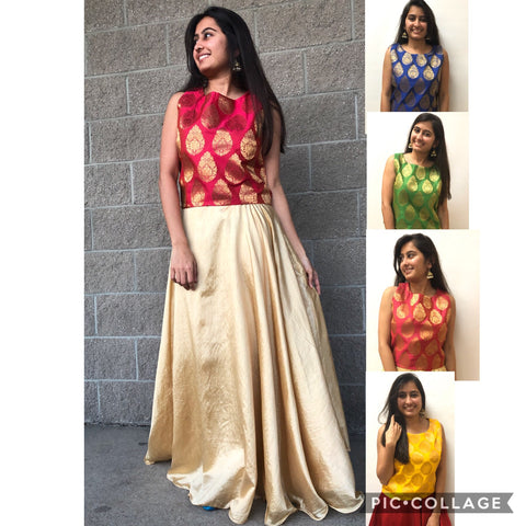 Banarasi Silk Tops