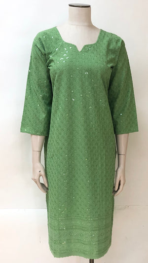 Chicken work embroidered Kurti