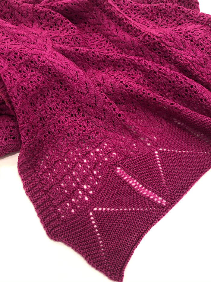 Knitted wool Shawl/Stole.