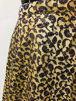 Silk Embossed Print Skirt