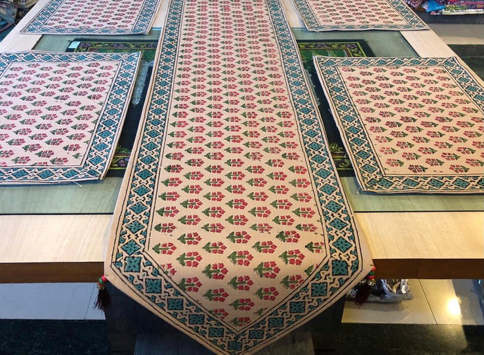 Cotton Table Mats and Runner Set