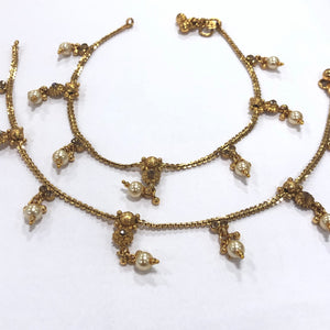 Gold tone/Plated Anklet / Payal With Big Stones