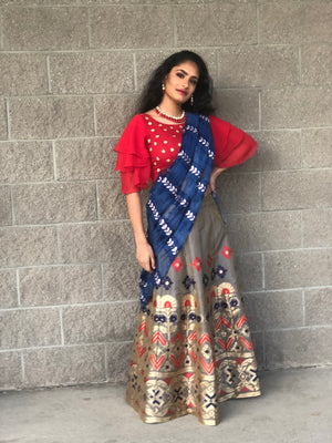 FORMAL BANARASI SKIRT