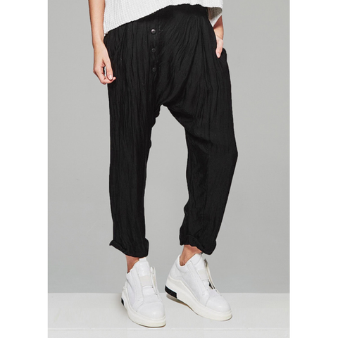 PANELLED  WASHED RELIEF PANT