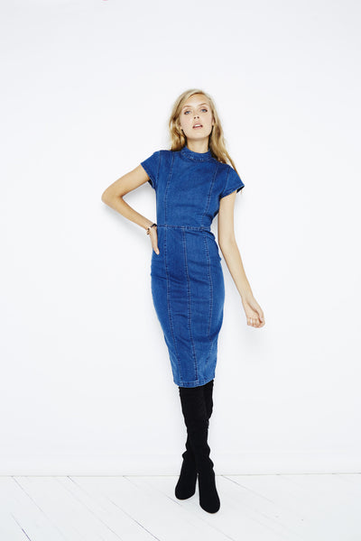 MinkPink Power Stretch Denim Dress