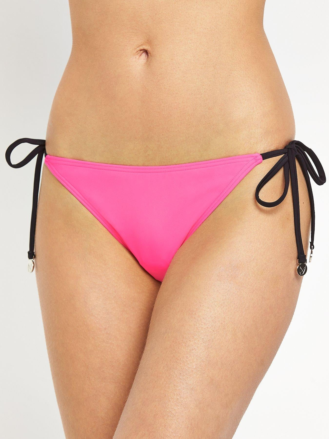 Mink Pink Shocking Pink High Neck Bikini Bottoms