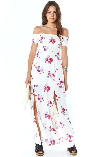 Minkpink Falling Blooms Maxi Dress