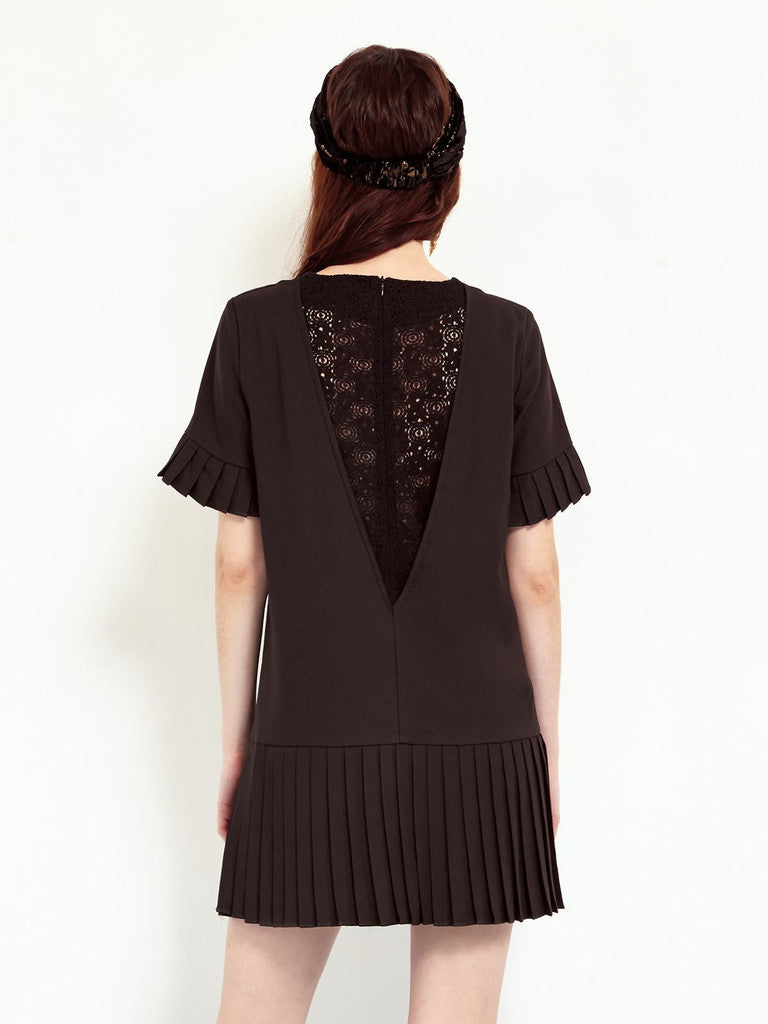 Sister Jane shadow play lace back dress