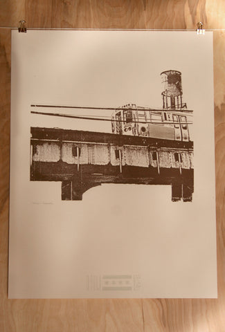 chicago brown line print