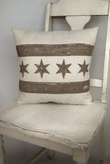 bike chicago flag pillow