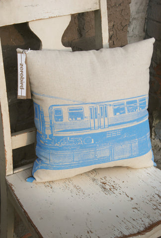 chicago blue line pillow
