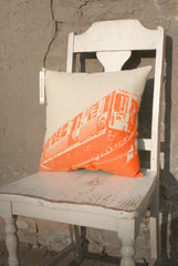 chicago orange line pillow