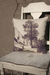 chicago purple line pillow