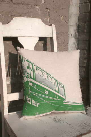 chicago green line pillow