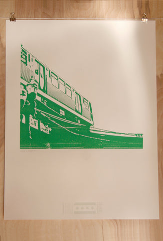 chicago green line print
