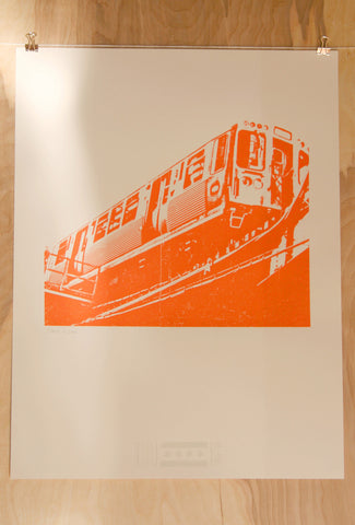 chicago orange line print