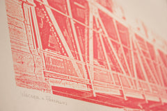 chicago pink line print close up
