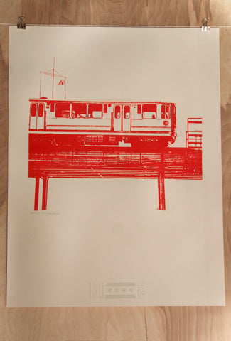 chicago red line print