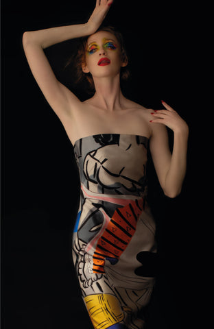 David Salle Strapless Dress