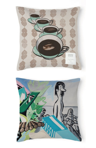 David Salle Cups Pillow