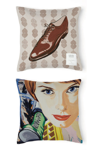 David Salle Shoe Pillow