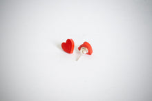 Load image into Gallery viewer, Article Wear Red Unisex Stud Earrings