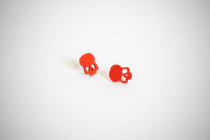 Article Wear Red Unisex Stud Earrings
