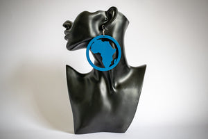 Article Wear Large Wooden Africa Circle Earrings